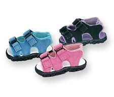 Black Suede Cross Trail Sandals Fits 18 inch American Girl Dolls