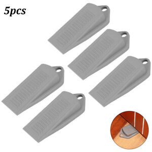 5 Pcs High Quality Wedge Door Stopper Rubber Wall Guard Mute Block Home Office