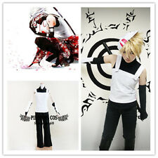 Naruto Anbu Hatake Kakashi Cosplay Costumes Suit Set Black + White S M L XL