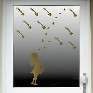 christmas Xmas Shop Home Window Decals starchild stars child shooting star tail