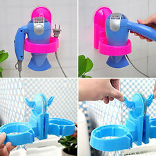 Household Rack Hair Blow Dryer stand Holder Wall Hang Shelf for Bathroom  PVC+PP