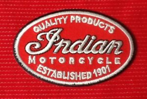INDIAN MOTORCYCLE ESTABLISHED 1901 VINTAGE BIKE BIKER  BADGE IRON SEW ON PATCH