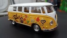 1962 Vw Volkswagen Classical Bus yellow kinsmart car toy model 1/32 scale metal