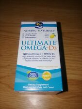Nordic Naturals Ultimate Omega-D3, 1280mg, Lemon 60 Softgels Exp 11/22+