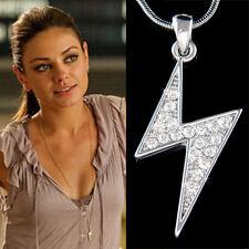 w Swarovski Crystal ~Lightning Bolt Thunderbolt Celebrity Charm Necklace Jewelry
