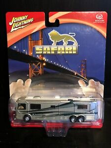 Johnny Lightning Monaco Safari Sahara Coach Motor Home RV Gray Die Cast 1/64