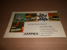 Ampex Entertainment Products Open Reel Recorders Product Sheet