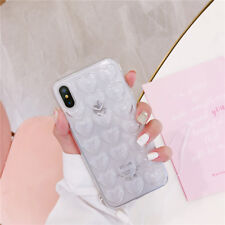 Shockproof Slim Soft TPU Rubber Luxury Heart Case Cover For iPhone 8 8 Plus 7