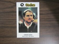 1983 Chuck Noll Pittsburgh Steelers Police Card