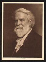 1910s Antique Vintage Edwin Markham Poet Writer Portrait Art Photo Gravure Print