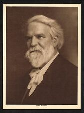 1910's Old Vintage Edwin Markham Poet Writer Portrait Art Photo Gravure Print