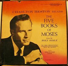 Charlton Heston Reads The Five Books Of Moses Vanguard 2049/50 Box Ex Cond