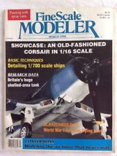 FINE SCALE MODELER March 1990 V8#3 1/16 scale Corsair - FREE shipping.