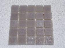 "Grey Vitreous Glass Tiles 25 x pcs for MOSAIC & Glass Crafts Approx ""2cm x 2cm"""