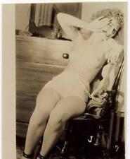 Akt Vintage Foto - leicht bekleidete Frau aus den 1950er/60er Jahren(101) /S200