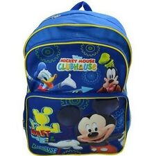 "New Disney Mickey Mouse Club House 16"" Backpack Large Kid's School Backpack"