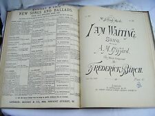 LARGE 19th CENTURY BOUND BOOK ANTIQUE SHEET MUSIC -15+ songs
