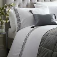 White Duvet Covers Grey Embroidered Laurence Llewellyn-Bowen Luxury Bedding Sets