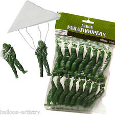16 Piece Army FORCES Camouflage Party Loot Large Paratroopers Toys Gifts