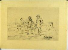 Eau forte de Henry Dupray, L'école de Tambours, 1875