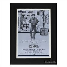 TAXI DRIVER ROBERT DE NIRO Ref 02 Framed Film Movie Poster A4 Black Frame