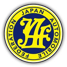 JAPAN AUTO FEDERATION STICKER driting import honda 85mm