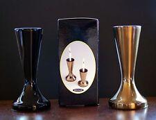 Vintage New Mid Century Modern CandleSafe Black Candle Holder / Vase Japan