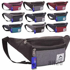 Bum Bag Waist Money Belt Travel Holiday Festival Concert Hiking Zipped Pockets