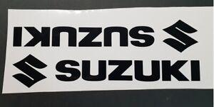 Suzuki plus logo pair vinyl cut sticker / decals Black or plain colours