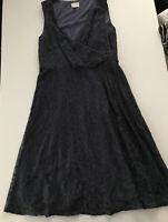 East Navy Lace Smart  Dress Party Dress Size 12. Lacy. Fit Amd Flare. Festive