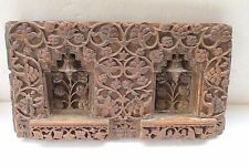 Antique Architectural Hand Carved Fine Wooden Floral Design Wall Block NH3700