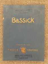 1940s Bassick Truck Casters Catalog Indutrial Equipment Industry Wheels