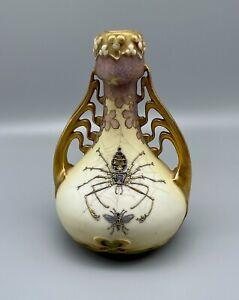 RStK Teplitz Stellmacher Art Nouveau Spider Amphora - Rare