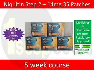 Niquitin Patches Step 2 - 14mg x 35 Patches UK SELLER EXP 08/2022 STOP SMOKING