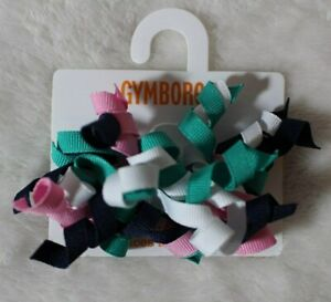 Gymboree Girls 2015 Picture Day Curly Ribbon Barrettes Bow Clips Multicolor Cute