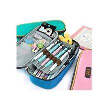LORJE Big Capacity Multifunction Canvas Pencil Case Bag Storage Organizer Pencil