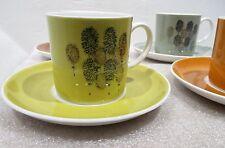 FOUR <> Susie Cooper Wedgewood Demitasse Espresso Cup & Saucer Bone China