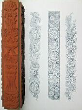 Judikins Baroque 4 Sided Rolling Pin Rubber Stamp Bellio 6805K Wood Mounted