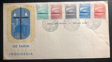 1957 Bandung Indonesia First Day Cover FDC Telegram Centenary