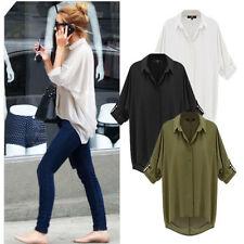 Chiffon Patternless T-Shirts for Women