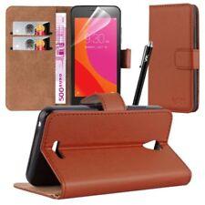 Fundas y carcasas color principal marrón de piel sintética para teléfonos móviles y PDAs Lenovo