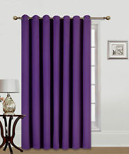 "1PC PATIO DOOR 14 GROMMETS WINDOW PANEL CURTAIN THERMAL BLACKOUT PURPLE 100""W"