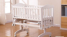 Rocking baby Crib Saplings Glider Lockable Cradle solid wood Furniture Baby  Cot