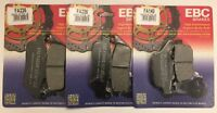 EBC Organic FRONT and REAR Disc Brake Pads Fits TRIUMPH TIGER 800 (2011 to 2018)