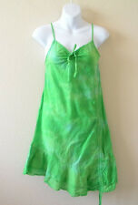 Green Hippie Gypsy Tunic Women Summer Bohemian Boho Tie dye Sexy Blouse Top - XS