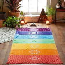 Colorful Chakra Tapestry Towel Yoga Mat Beach Sunscreen Shawl Blanket Tapestries