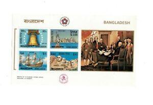 BANGLADESH - SG80-MS84 MNH 1976 BICENTENARY AMERICAN REVOLUTION MIni Sheet