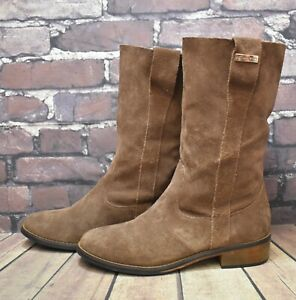 Womens Les Tropeziennes Brown Leather Low Heel Mid Calf Boots UK4 EUR37 RRP-£75