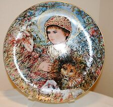 EDNA HIBEL 1989 Christmas plate PEACEFUL KINGDOM by Knowles