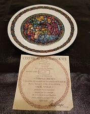 HANDMADE 1976 Limoges Dans La Creche Noel Vitrail 2eme fait a la main collectors